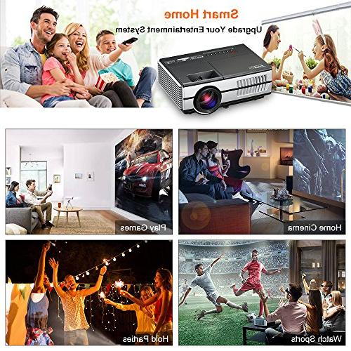 LED HDMI Theater Android Wifi Proyector Multimedia Party Entertainment Built-in HDMI USB VGA AV Out