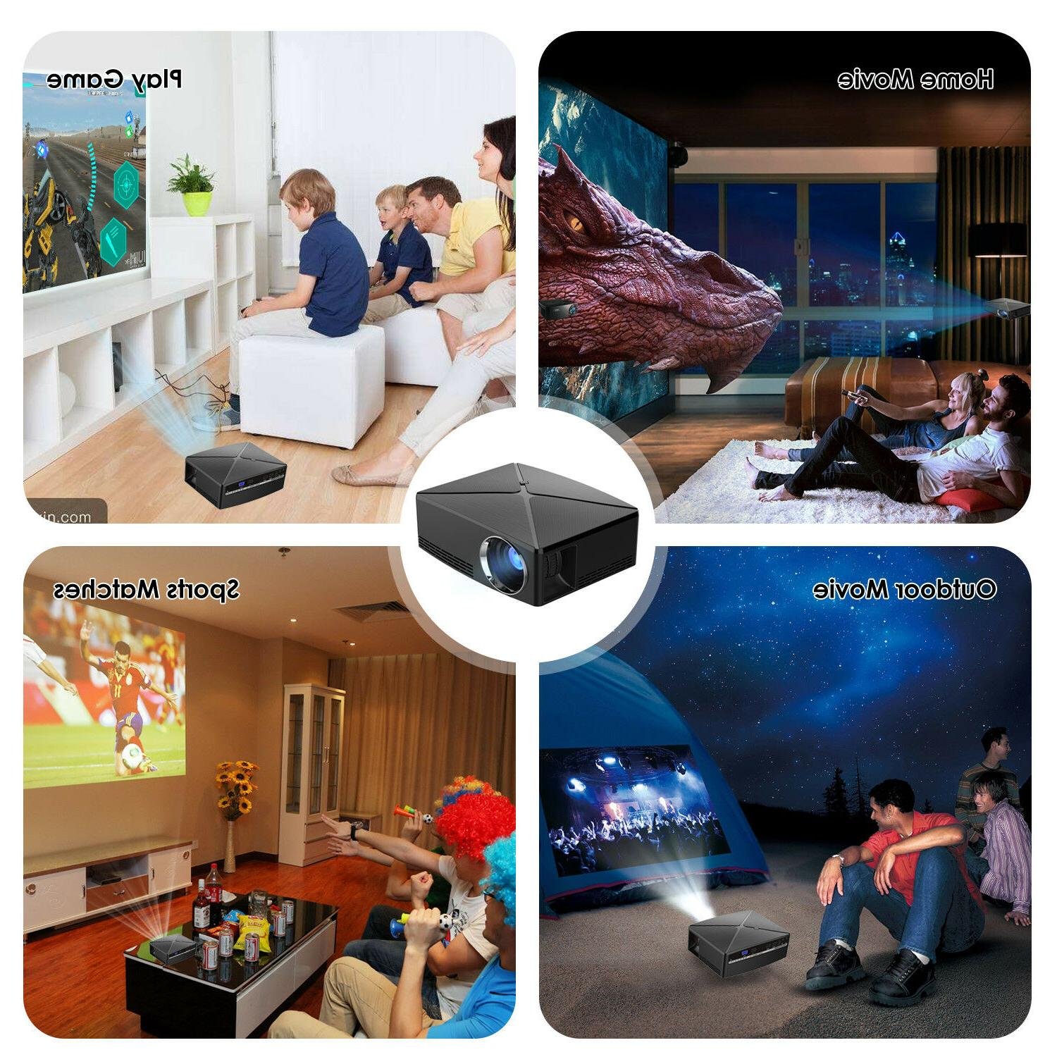 WOWOTO T8E Mini Portable Projector Home Theater...