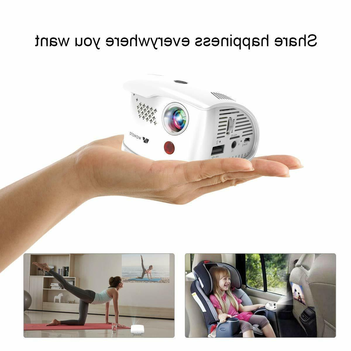 WOWOTO Movie Mini Projector Android 7.1 OS ANSI Lumens LED