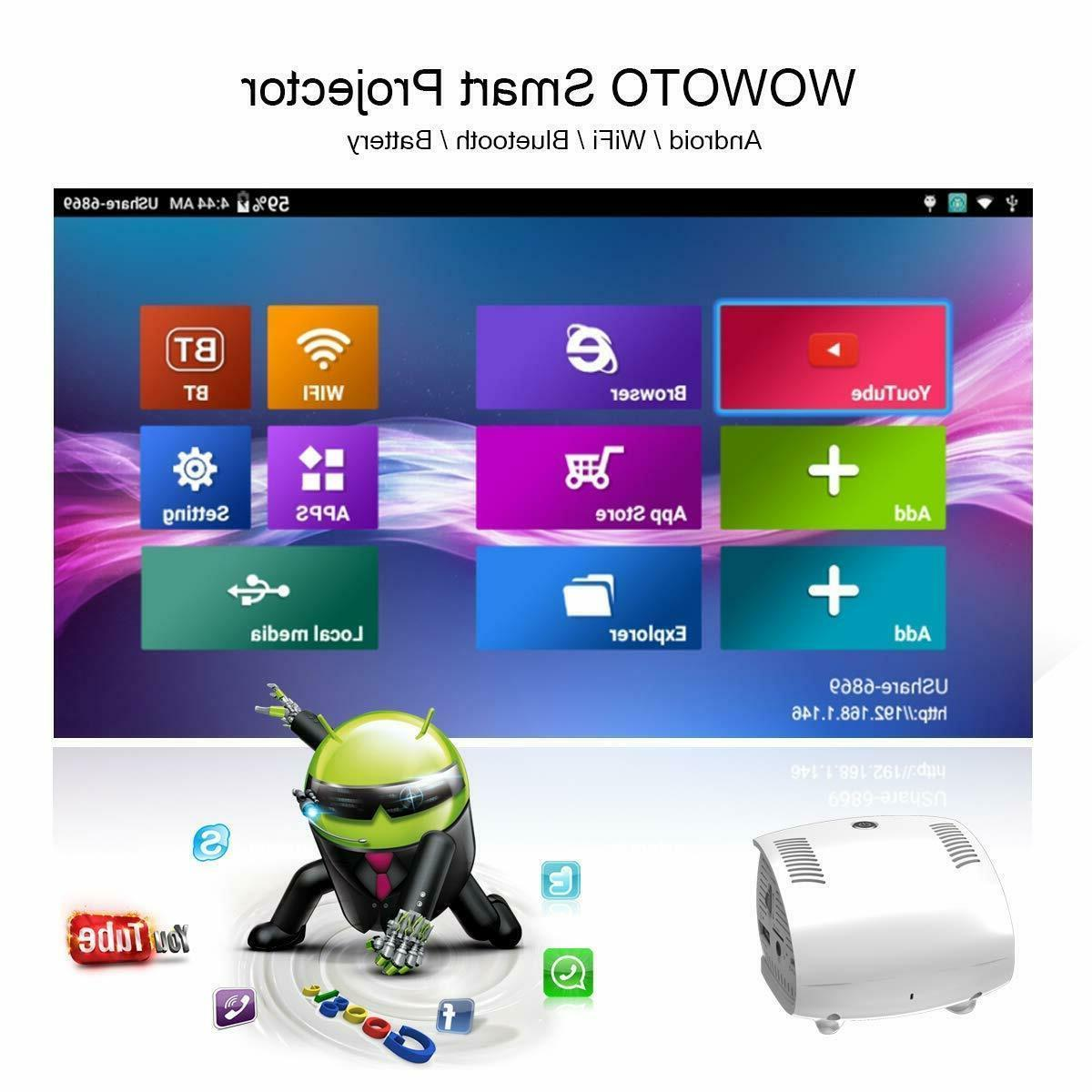 WOWOTO Movie Mini Projector Android OS 150 Lumens LED DLP