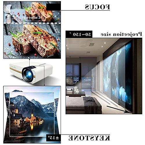 ELEPHAS LED with 2018 LCD Technology Support 1080P for Home Video Games