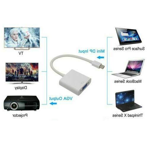 Mini DisplayPort DP To VGA Adapter for