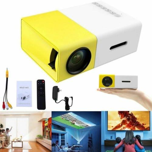 yg300 mini portable multimedia led lcd projector