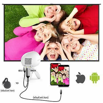 1080P Mini Projector Octopus Portable Full LED home HDMI USB