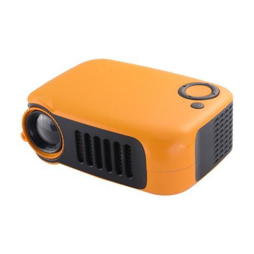 Orange/White Pocket 1080P Movie Video Projectors Home Theater HDMI