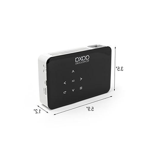 AAXA LED Video Projector Hour Rechargeable Battery, Media HDMI/Mini Inputs, iPad Xbox Compatible,