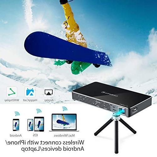 VANKYO Passport Smart Portable 100 ANSI Lumens 7.1 OS HDMI, Micro Ports Keyboard