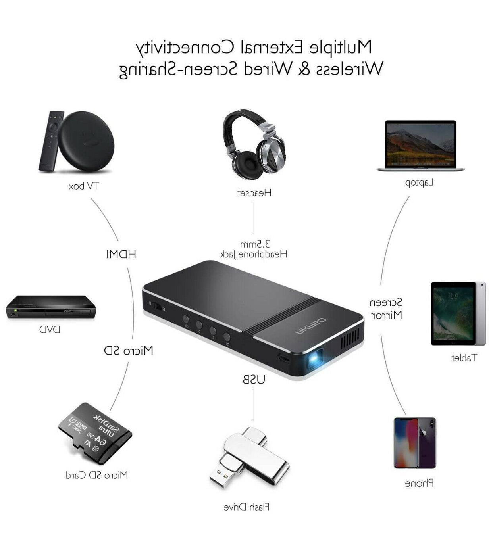 Pico Projector AKASO Mini Portable LED 50 ANSI W Wifi