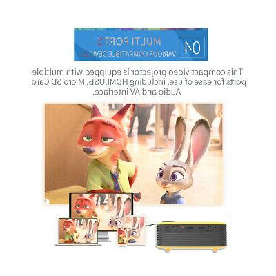 Portable 1080P LCD Projector Multimedia Theater