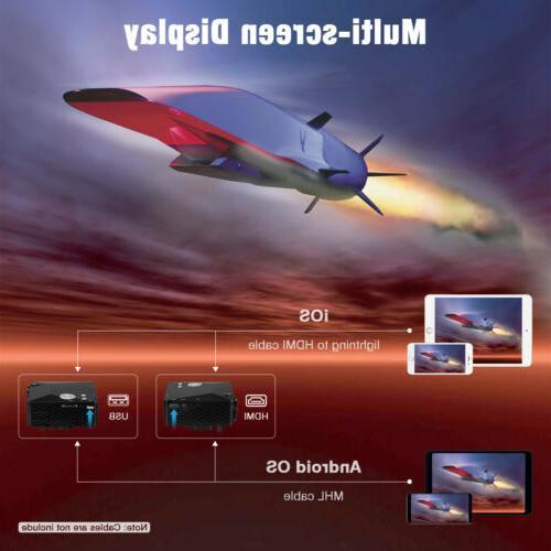 Portable Projector HDMI Home Cinema US