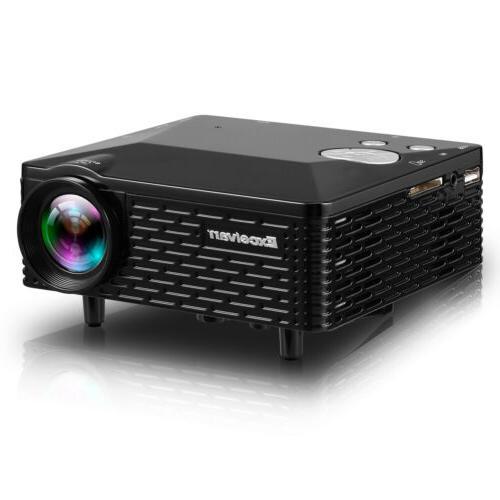 portable 1080p mini led projector hdmi usb
