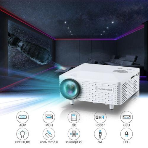 YG300 Portable Smart Home Theater Projector HDMI AV USB Video Movie
