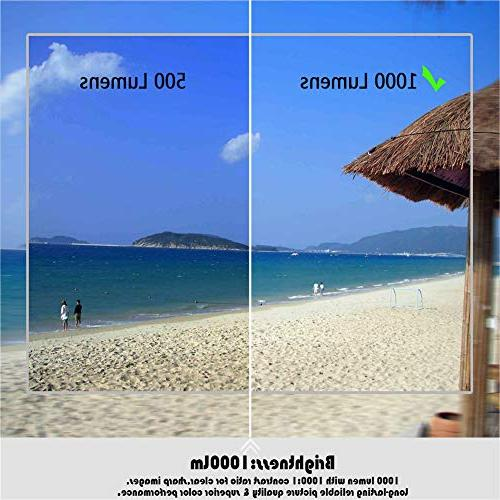 elegantstunning Video Projector Projector 1080P 3000 LM