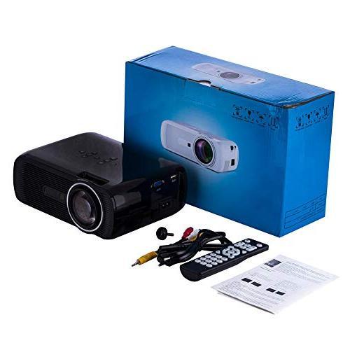 elegantstunning Theater Video Projector HD Projector 3000 LM