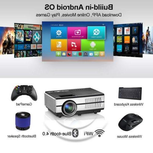 2800lms Mini Projector Bluetooth HD HDMI App