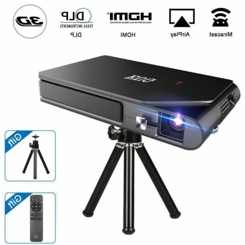 HD Portable Mini Mirascreen DLP Projector Wifi 3D Home Theat