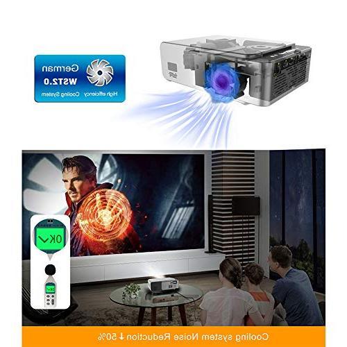 BEESCLOVER Cinema Video Digital Home Projector Projector