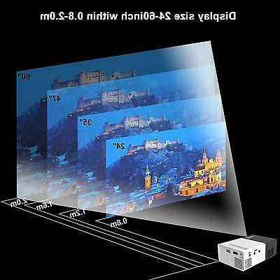 Artlii Mini 1080P Projector Input TV/ Art