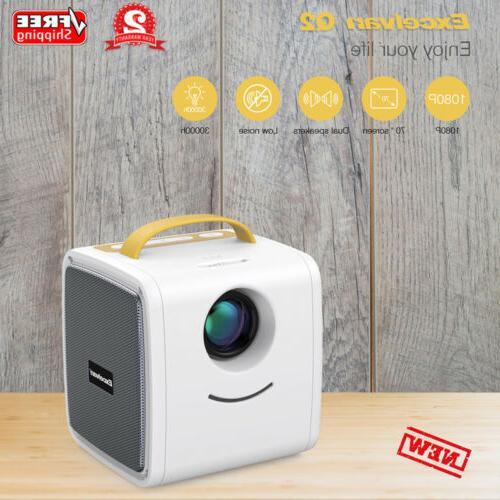 portable mini led multimedia projector home theater