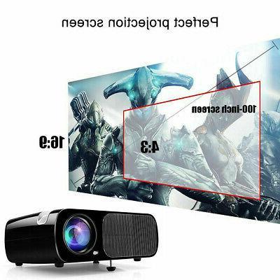 Portable Mini 7000 Home Cinema Theater 1080P 3D HDMI