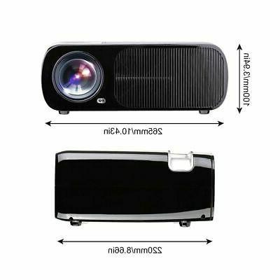 Portable Mini LED Projector 7000 Theater 3D AV HT