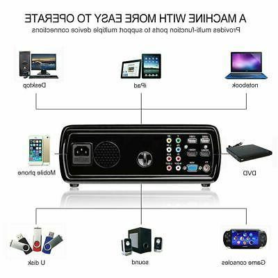 Portable LED Projector 7000 Lumens Home Cinema Theater 3D AV HT