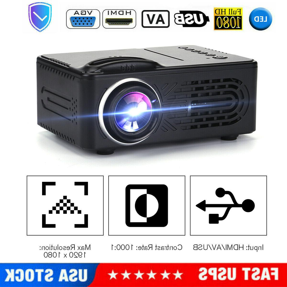 portable mini led projector hd home theater