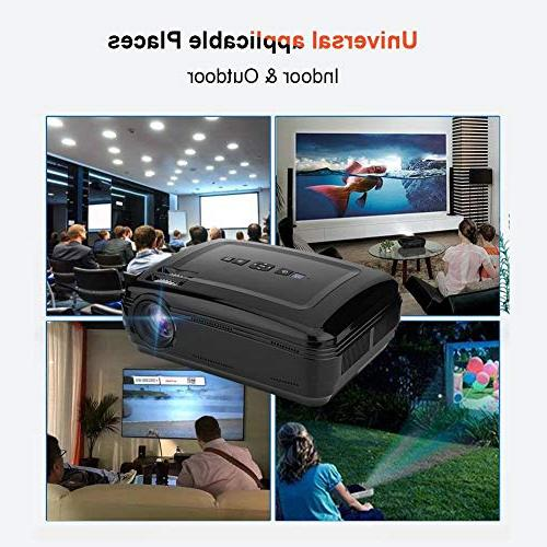 fosa 1080P Full Theater Control Stereo Sound 16.7K Large Screen Projector Support USB SD Card TV