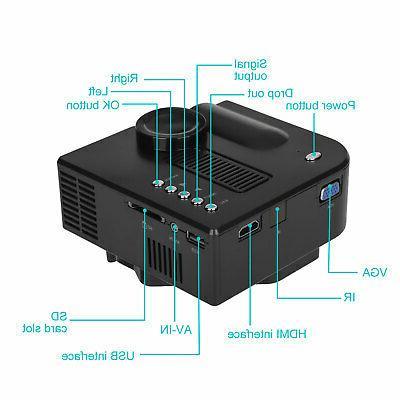 Mini 1080P Projector Video Projectors Home HDMI