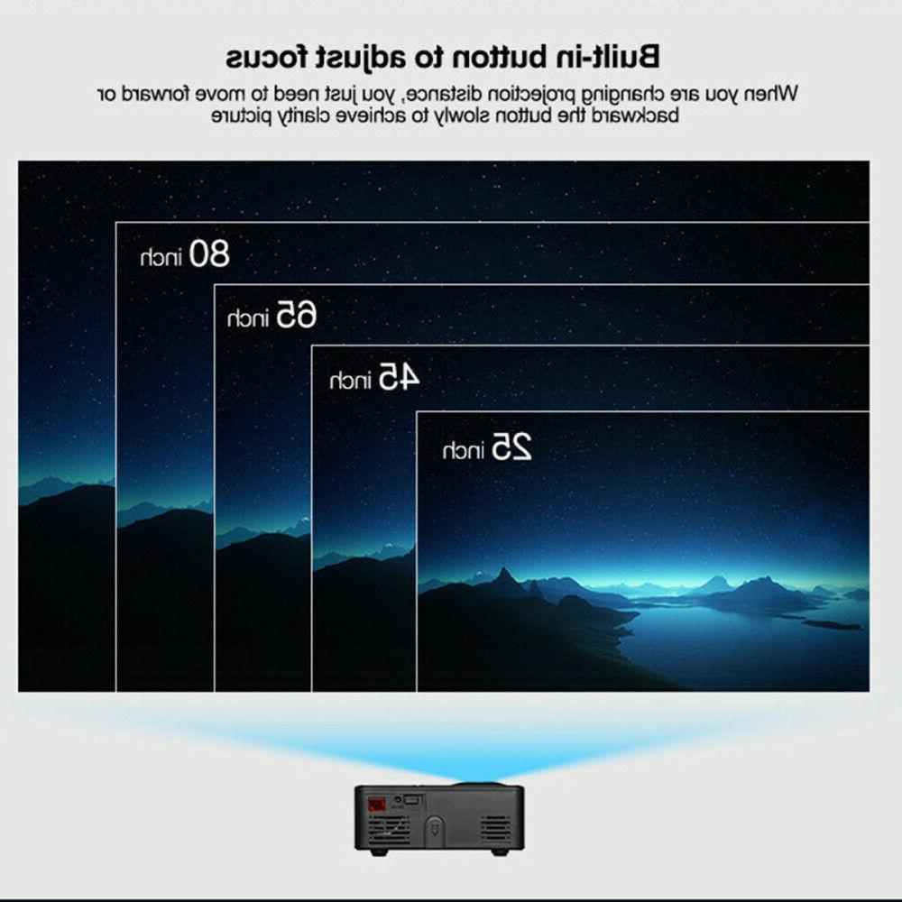 Portable Multimedia 1080P Mini Cinema USB HDMI US