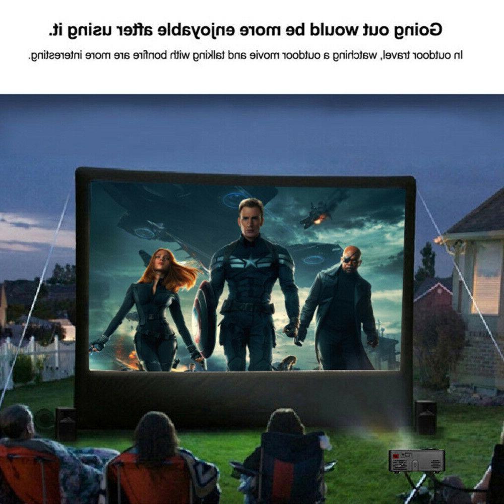 Portable Projector 1080P Home Cinema USB HDMI TV US