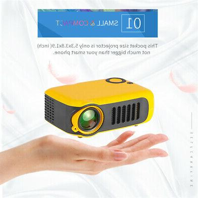 Portable Mini Projector HD 1080P Video