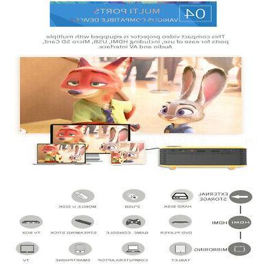 Portable Mini Projector 1080P LED Video