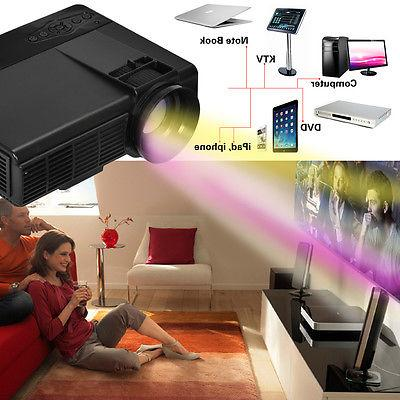 Portable Mini Projector 1080P Theater Movie HDMI USB