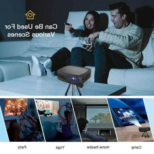 Portable Mini WiFi DLP Home HD HDMI