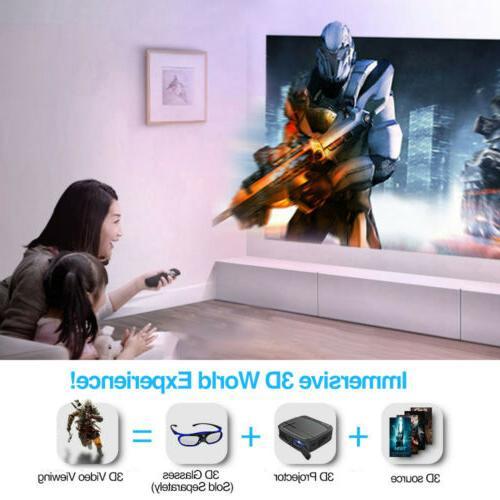 Portable Mini 3D DLP Projector Home HD Camping HDMI