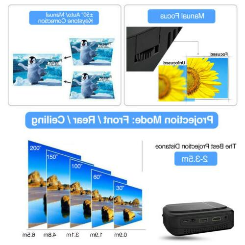 Portable Mini DLP Projector Theater HD Movies HDMI