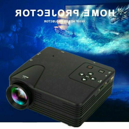 Portable Multimedia LED 1080P Cinema USB HDMI US
