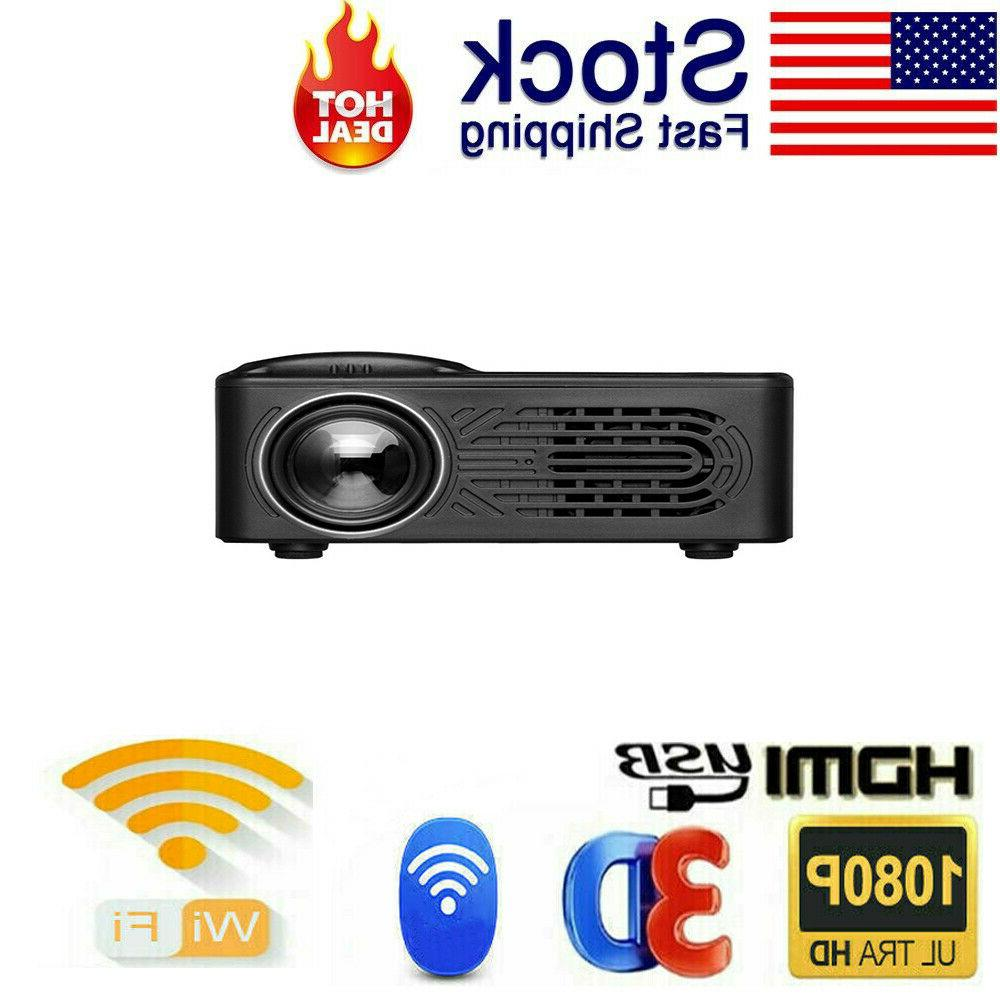 Portable Multimedia 1080P Mini Home Cinema USB HDMI US