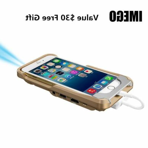 portable pocket projector mini led iphone projection