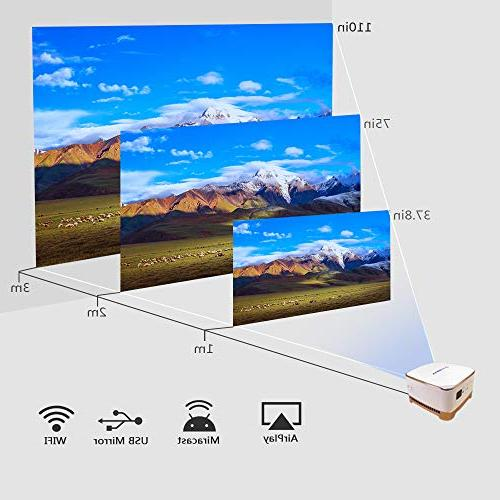 AMOOAW Smart Bottom Speaker,4-Hour Projector Connection & Suitable Outdoor,Indoor,Camping,Smartphone