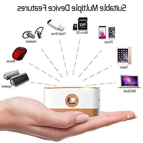 AMOOAW Portable Projector,Movie Smart 100 ANSI Projector Android 7.1 & iOS Suitable