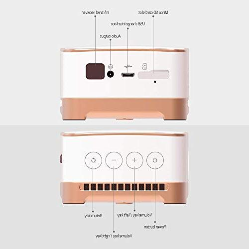 AMOOAW Portable Smart Bottom Video Projector Connection Android &