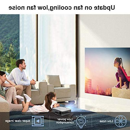2019 Wireless LCD Projectors Lux Mini TV Projector Home Theater USB Aux Audio AV 720P 1080P for Outside Moive Smartphone