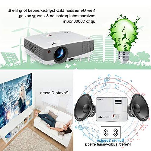 2019 Portable Wireless LCD Mini Smart Home Theater with HDMI USB AV Android 720P 1080P Outside Moive Night