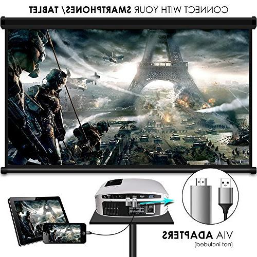 Projector, 3, 500 LUX LCD HDMI Micro Home Entertainment and White