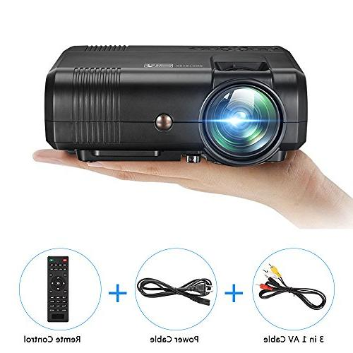 Movie Projector,Weton Upgraded Projector Projectors 1080P Projector Outdoor for Smartphones Support