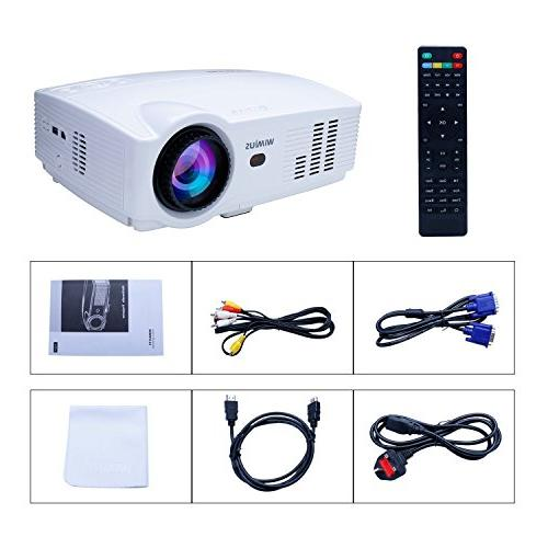 Projector, 3500 Lumens Full hours Compatible Amazon Fire TV VGA, USB Home