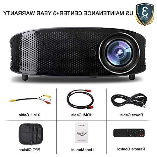Video 3800LM Full HD Office Projector for Presentation and PPT Clicker