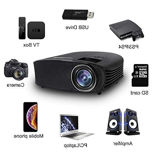 Video Full HD Office Projector for Business Presentation and PPT